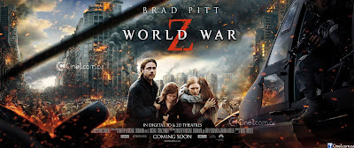 World War Z Banner POster Brad Pitt