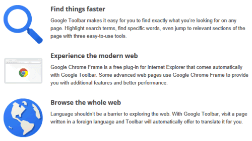chrome news  Chrome Frame, Now  Bundled With Google Toolbar