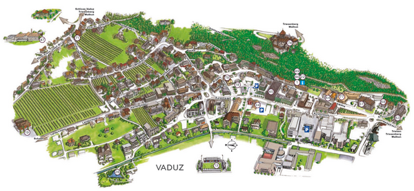 Of Vaduz Liechtenstein - Liechtenstein map