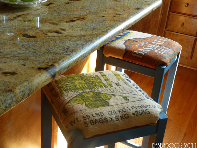 DIY burlap coasters, stools, lampshades and more!