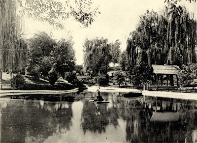 the lake and grounds of Gray Towers, G.G. Green's Mansion in Woodbury, New Jersey