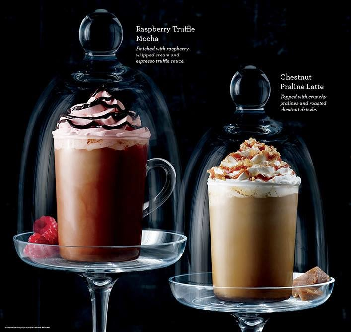 Starbucks Philippines Raspberry Truffle Mocha and Chestnut Praline Latte
