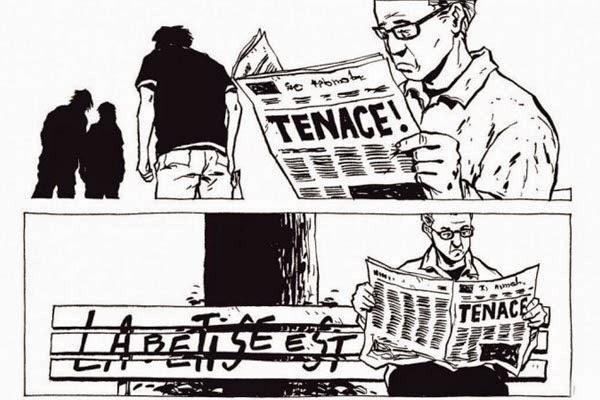 """Detalles del cómic """"Un poco de madera y Acero"""" de Chabouté"""
