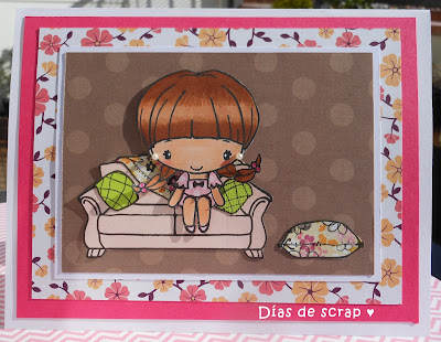scrap postal reto FFF de The greeting farm