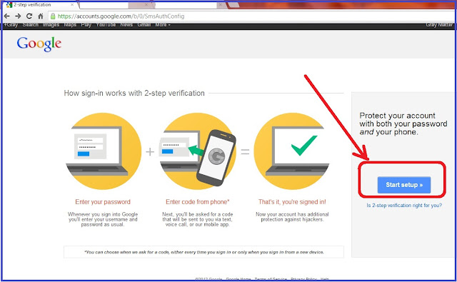 Google Account 2 step verification