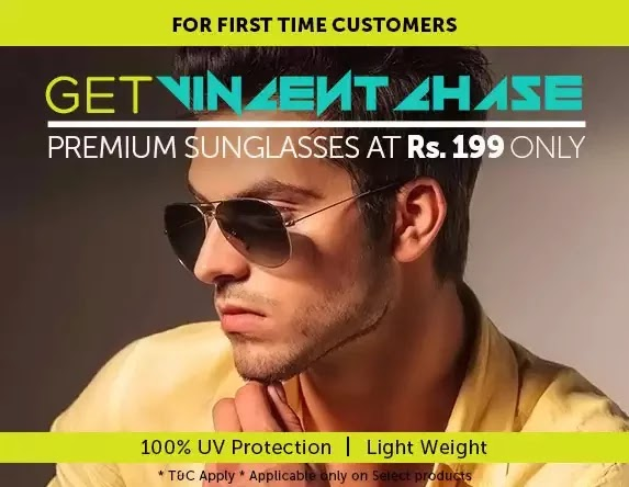 Get Vincent Chase Premium Sunglasses at Rs. 199 only