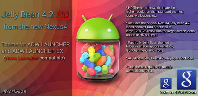 Jelly Bean 4.2 ADW NOVA Theme v1.4 APK