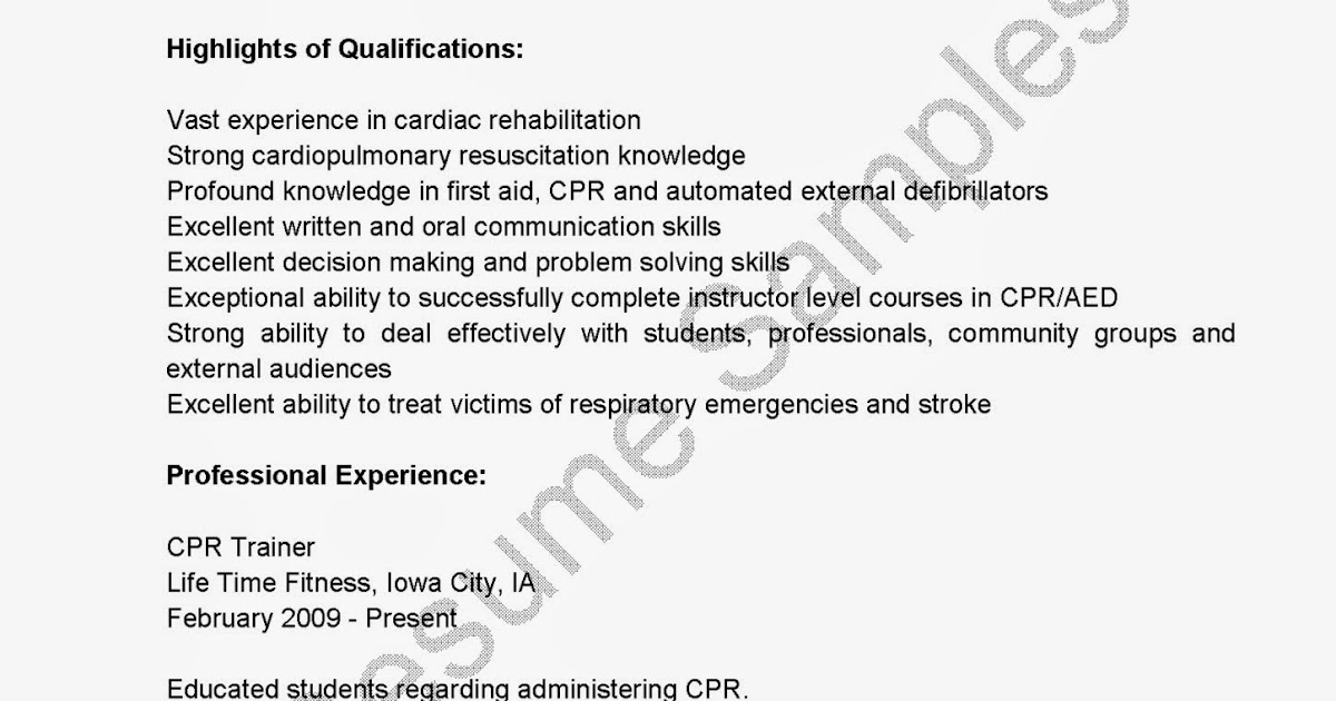 Cpr Certification Resumes Kordurorddiner