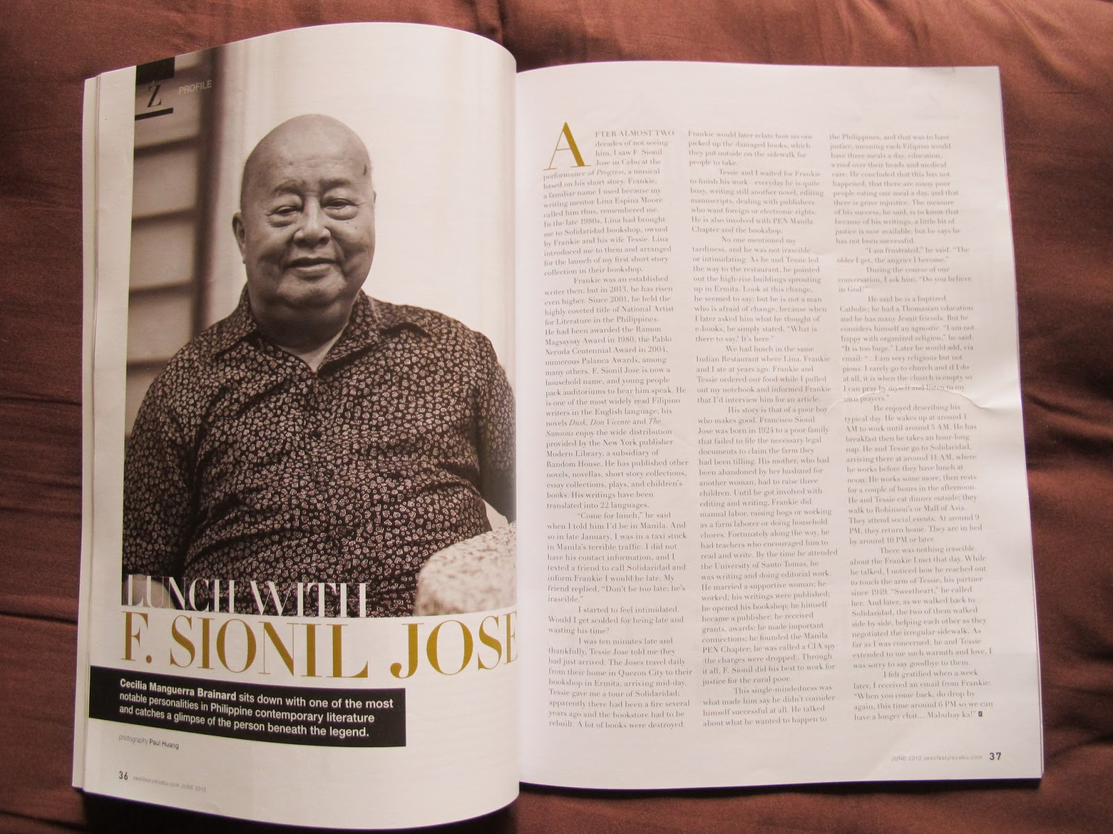 f sionil jose s works Discover f sionil jose biography, works, awards, books and excerpts about f sionil josé and moreunwrap a complete list of books by f sionil jose and find books available for swap.