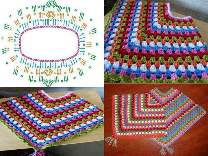 Crochet Project Cowl Neck Poncho For Lil Girl