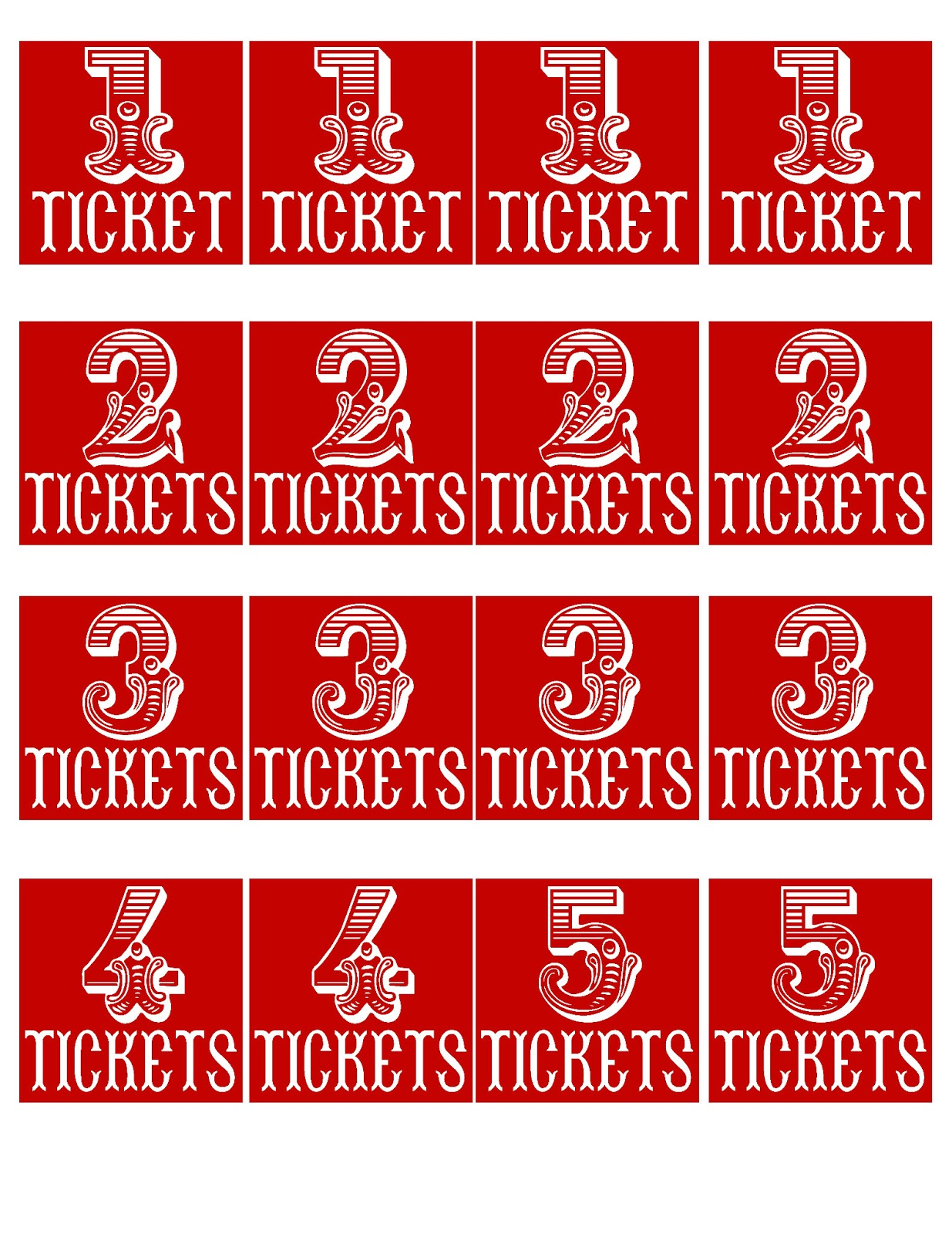prize ticket template