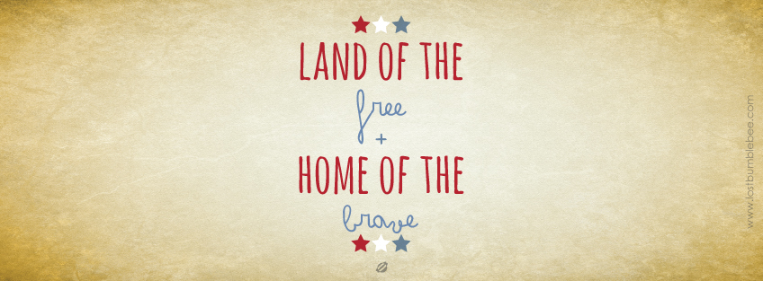LostBumblebee ©2014 Land of the Free- FB Cover Image - for personal use