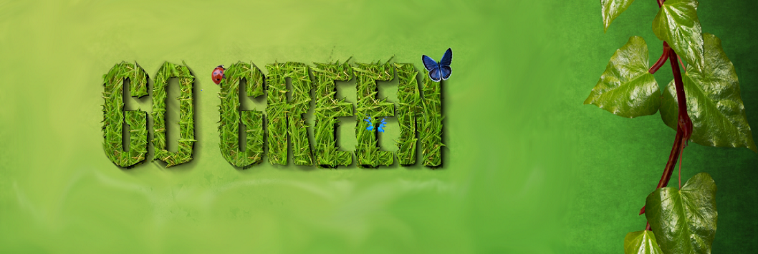 Image of 3d text saying go green