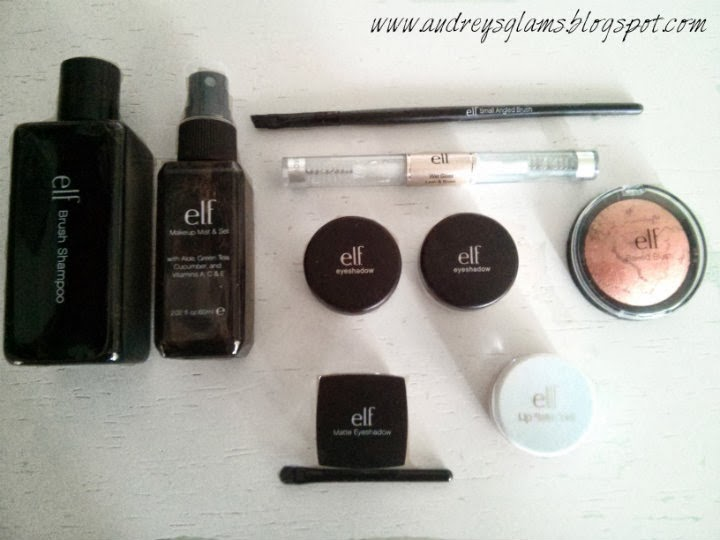 e.l.f. cosmetics haul swatches review products