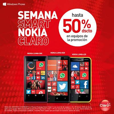 de la promoción nokia lumia 505 nokia lumia 820 y nokia lumia 620