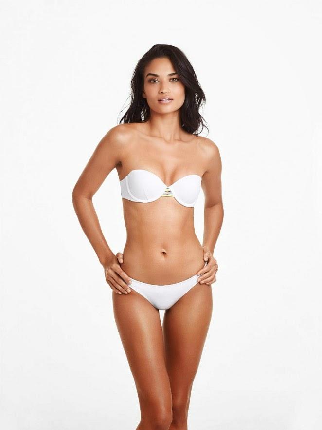 Shanina Shaik flaunts the latest Victoria's Secret Bikinis for the February 2015 Lookbook