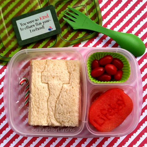 A Christmas Story leg lamp bento school lunch