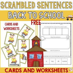 Back to School Scramble Sentences