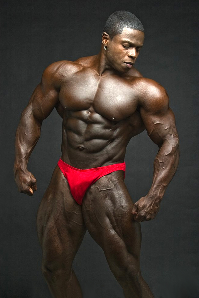 Hot black muscle men share your