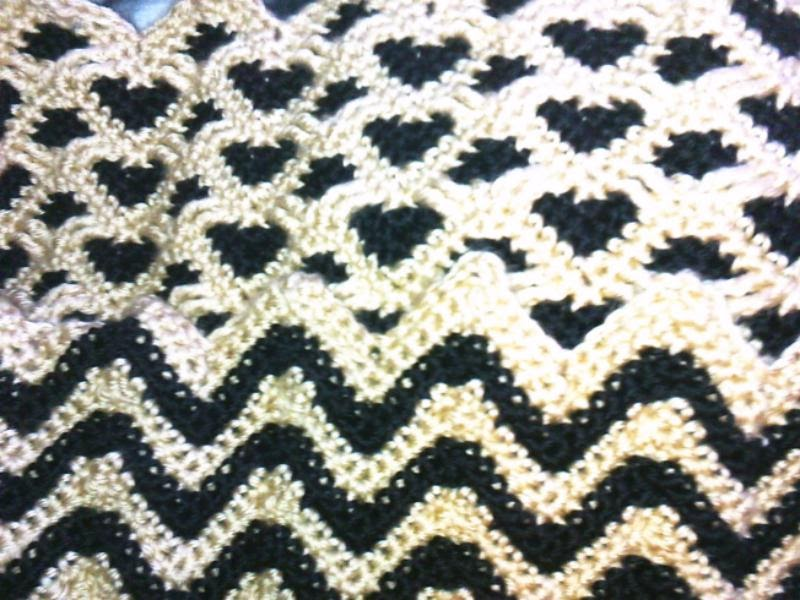 rocky u0026 39 s favorite things  sweetheart ripples reversible afghan