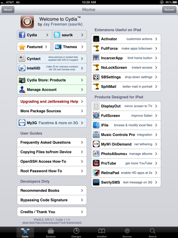 ipad 3 jailbreak for iOS 5.1 by dev-team and i0n1c and chpwn