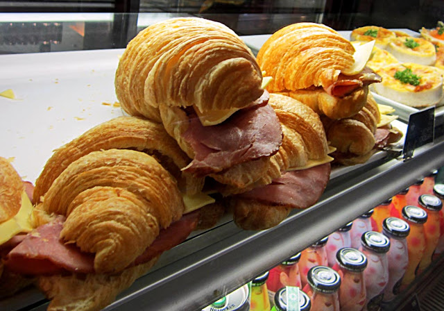 croissants filled with ham