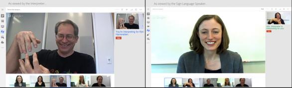 hangout google+ linguaggio segni
