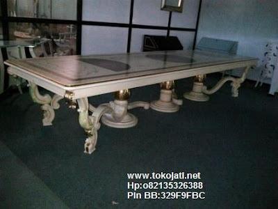 Jual Mebel Jepara,meja makan jati ukiran jepara classic duco Toko Mebel Jati klasik,Furniture Mebel Jepara code mebel ukir jepara A1461