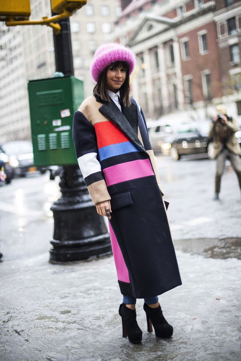 winter, style, street style, Miroslava Duma, NYFW, Fashion week, snow