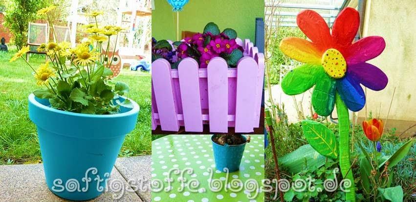 kuntterbunte Deko-Ideen für den Garten