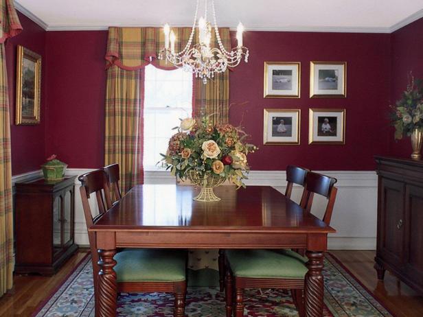 Muebles y decoraci n de interiores comedores con paredes - Colores pared comedor ...