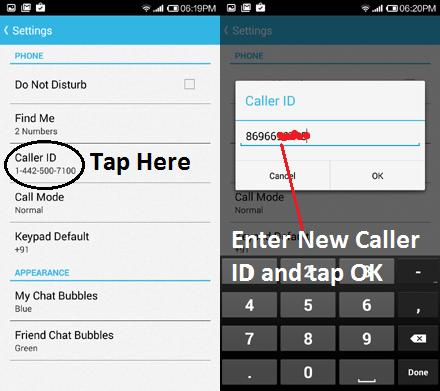 change caller id
