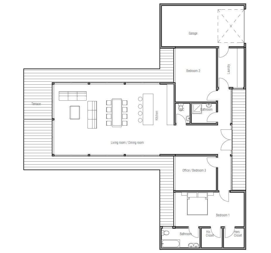 Australian house plans modern australian home ch164 for Modern building plans