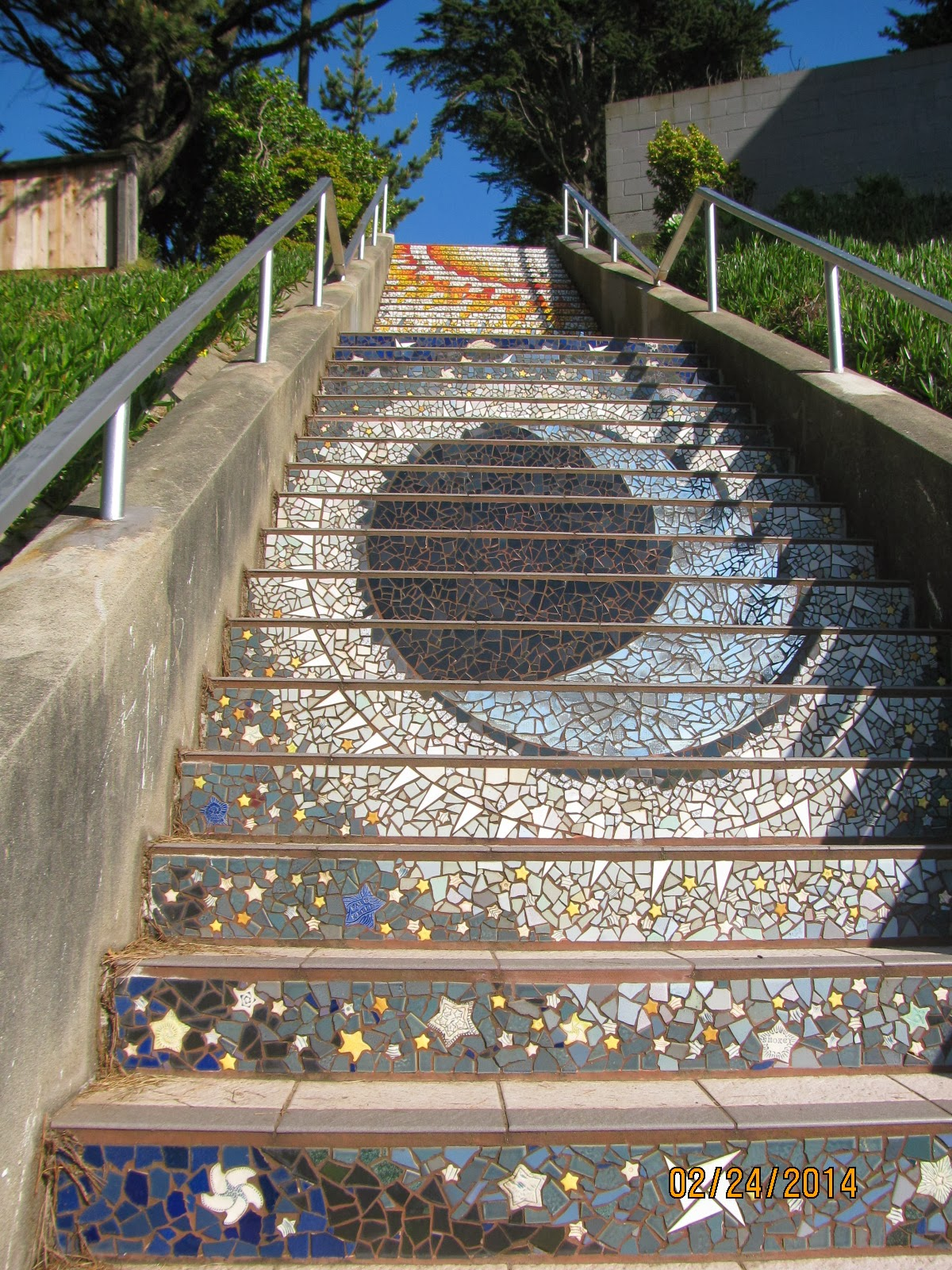16th Street Stairs- Sun and Moon