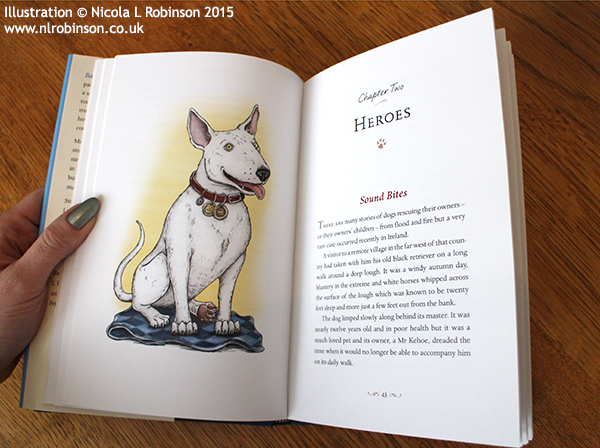 Dog illustrations for Barking Mad Edited by Tom Quinn © Nicola L Robinson 2015