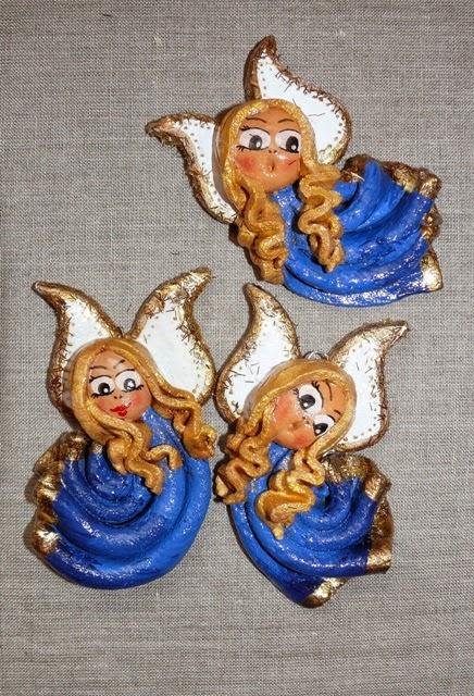 małe aniołki z masy solnej