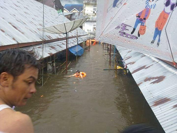 banjir di balai balai kota padang panjang januari 2014