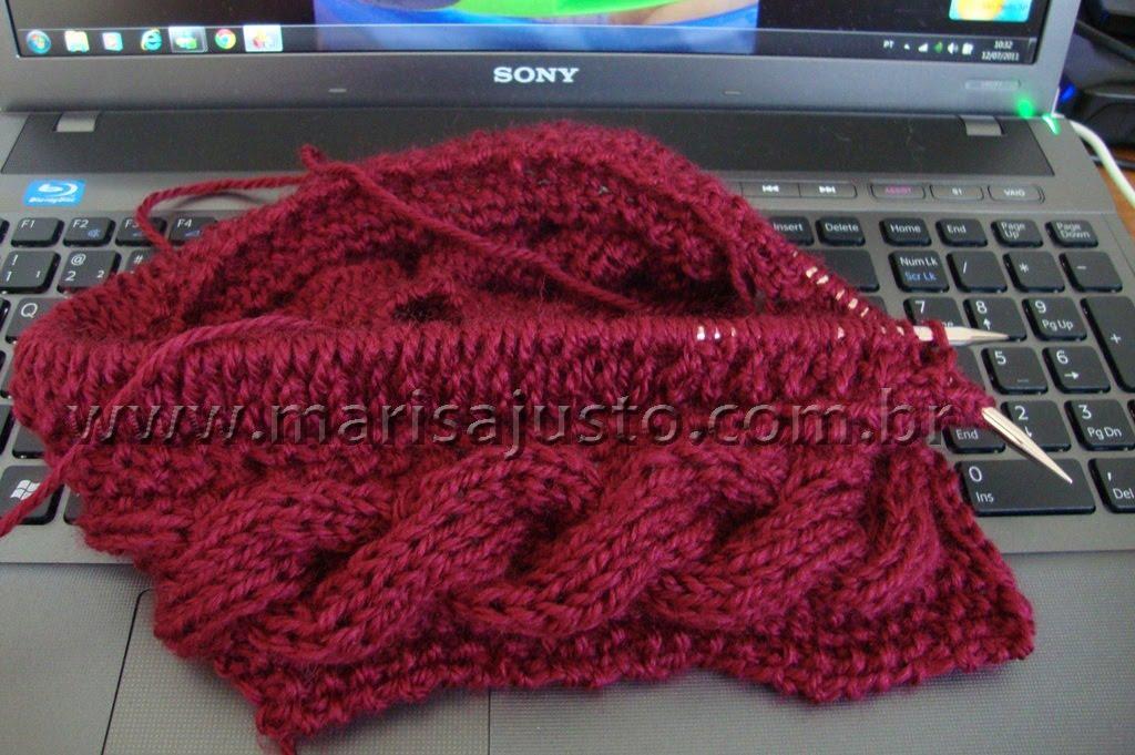 Marisa Almeida Tricot Crochet   Gorro Tricot Tranças 63e588b24b5