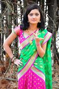 Pujitha sizzling in half saree-thumbnail-11
