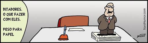Ditadores: O que fazer com eles. peso para papel