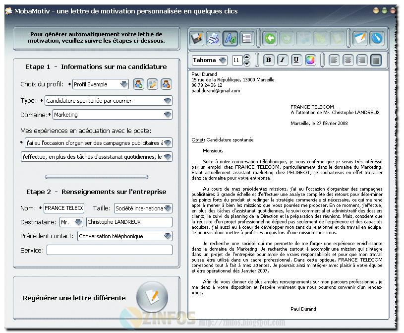 logiciel pour r u00c3 u00a9diger cv et lettre de motivation mac