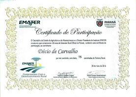 Certificado de 75 caminhadas internacionais
