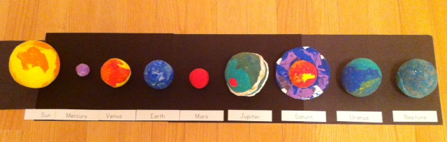 solar system out of foam balls - photo #9