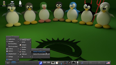 openSUSE 12.2 Enlightenment E17 change theme