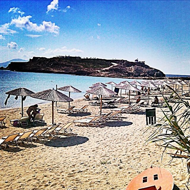 koumbara beach in Ios, Greece. Best Ios beaches.