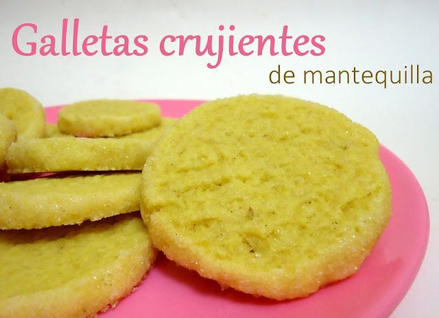 receta Galletas crujientes de mantequilla francesas
