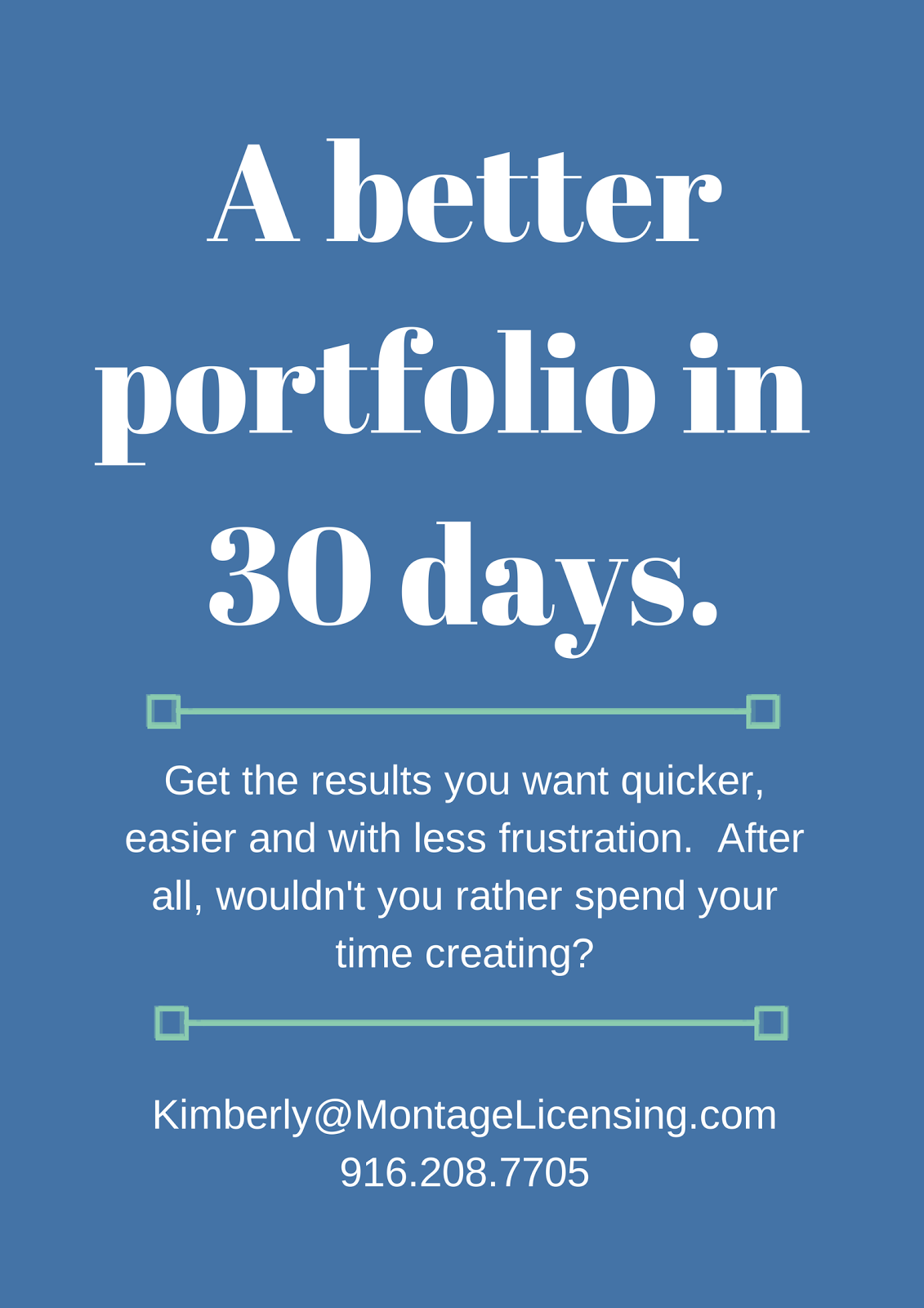 A Better Portfolio in 30 Days