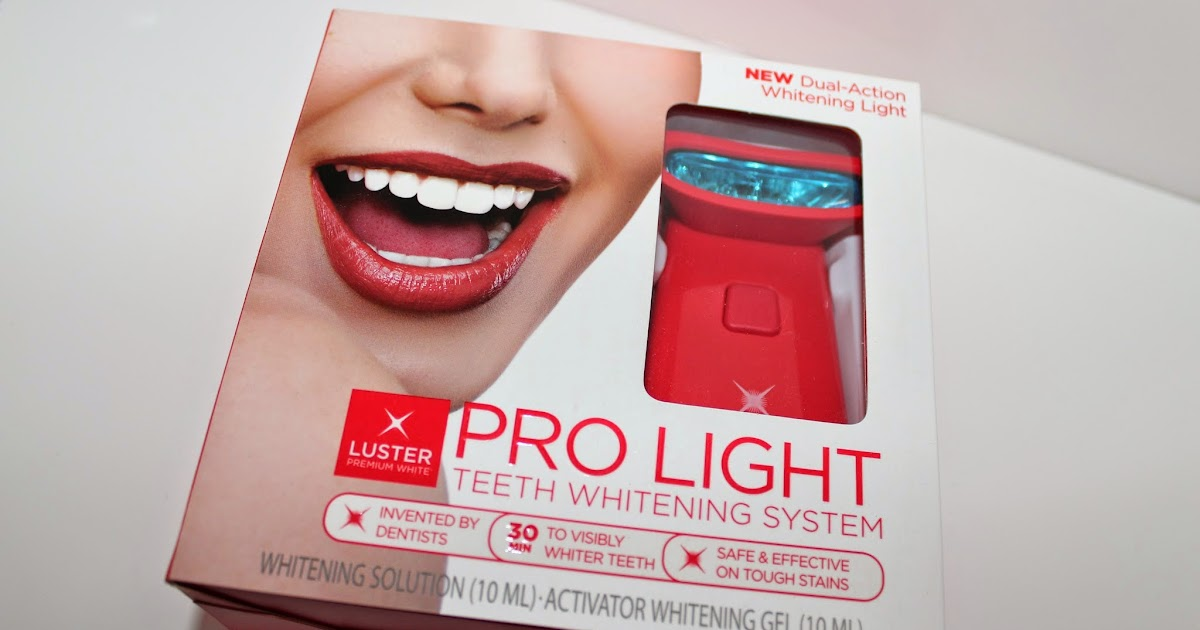 luster premium white pro light teeth whitening system review bags. Black Bedroom Furniture Sets. Home Design Ideas