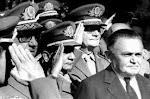 Castelo Branco.1º pte.da ditadura Militar inst. em 64-Não concordava com o endurecimento do regime