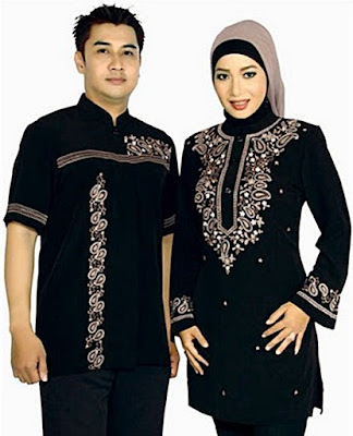 Contoh Model Baju Batik Sarimbit Muslim
